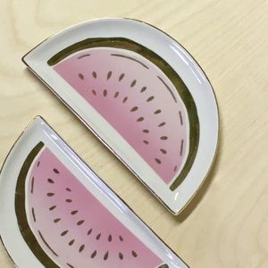 Other - Watermelon Ceramic Dishes Jewelry Hold Rings